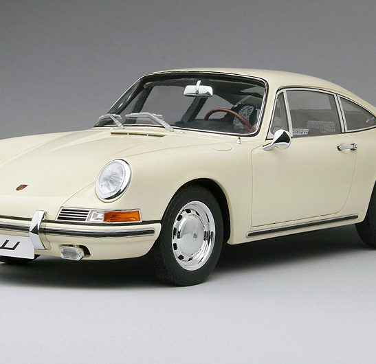 1964 Porsche 911 Ivory White, 1:12 Scale by True Scale Miniatures