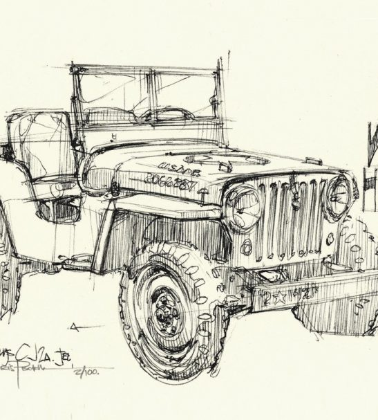 Willys Jeep print by Curb