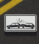 Crashing Cars Sign (GERMANY) by RS