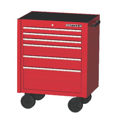 """4S Single Bay 22"""" Tool Box Fire Red with Chrome Trim by ..."""
