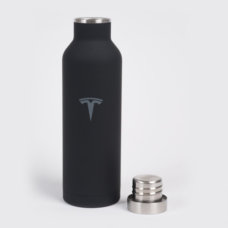 Black Stainless Steel Water Bottle By Tesla Choice Gear