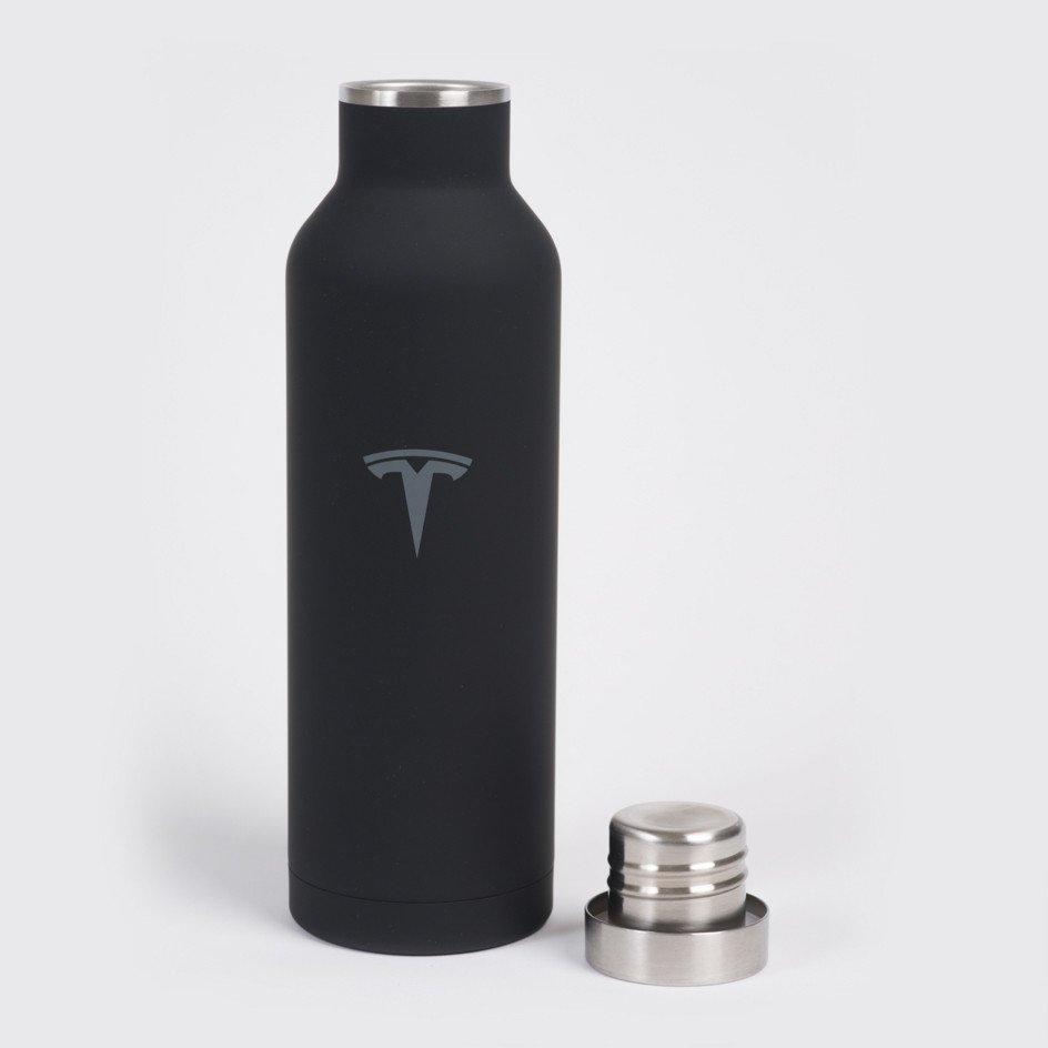 Black Stainless Steel Water Bottle by Tesla