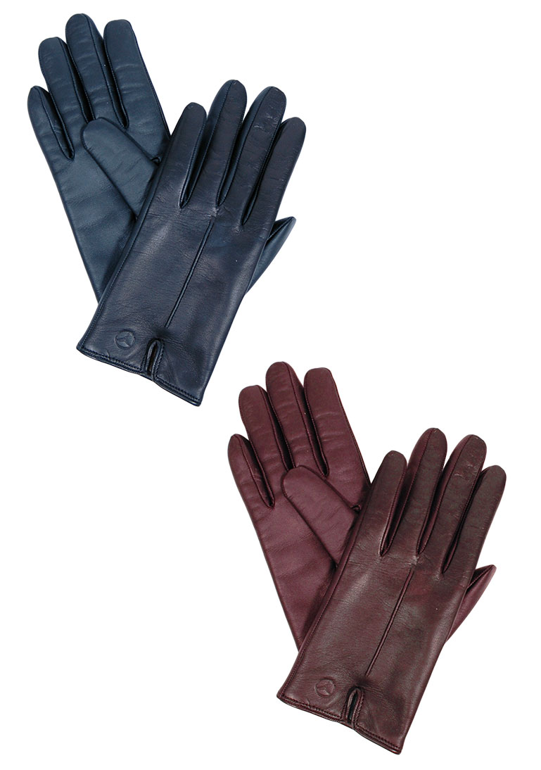 ladies 39 italian leather touchscreen gloves by mercedes