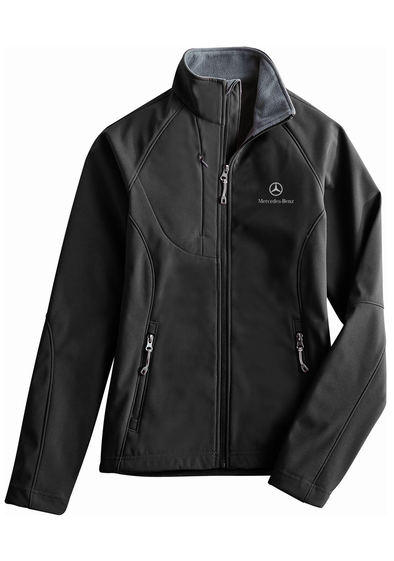 ladies 39 lightweight bonded soft shell jacket by mercedes
