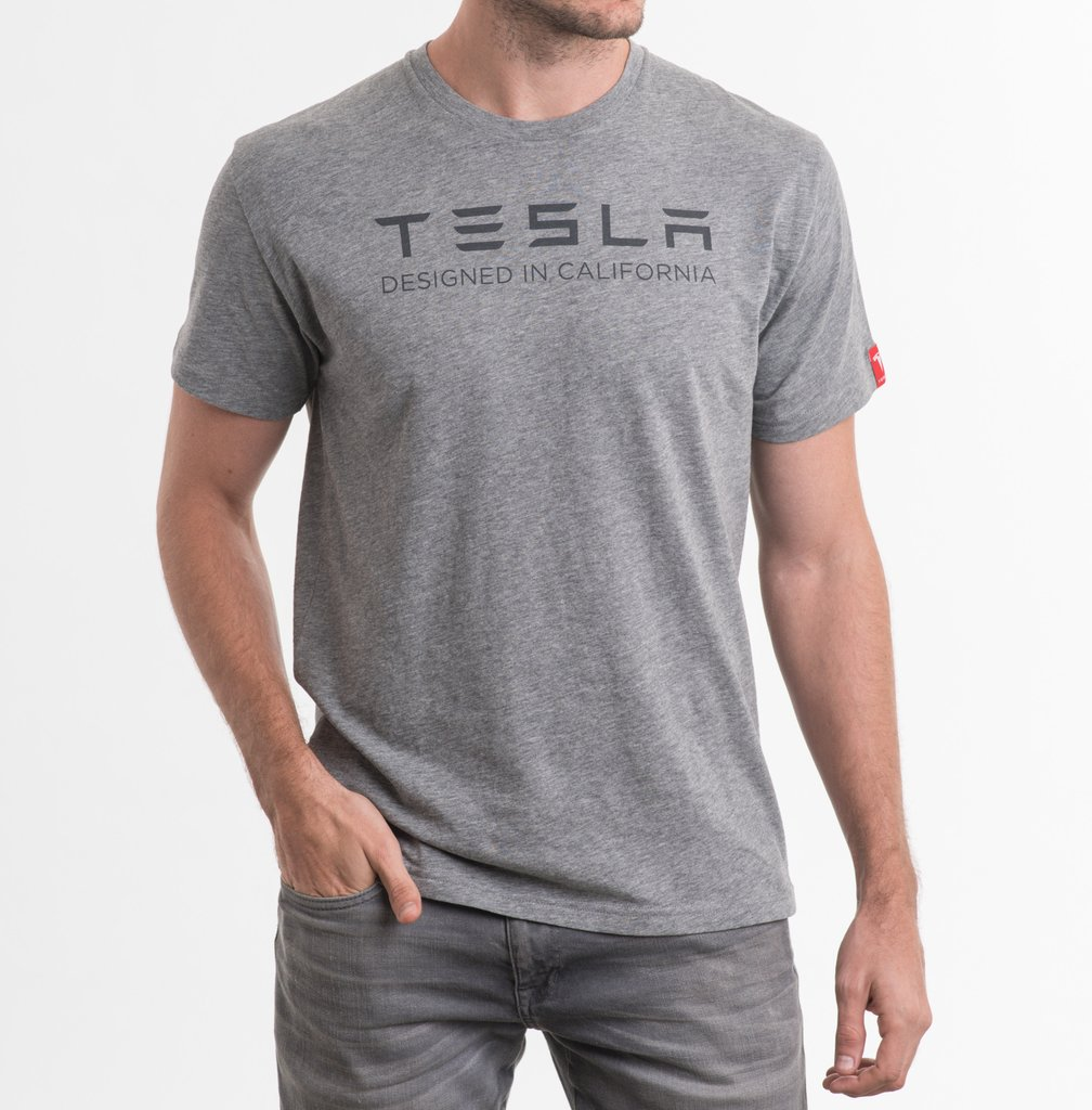 Men 39 s made in ca crew neck t shirt by tesla choice gear for Mens crew neck tee shirts