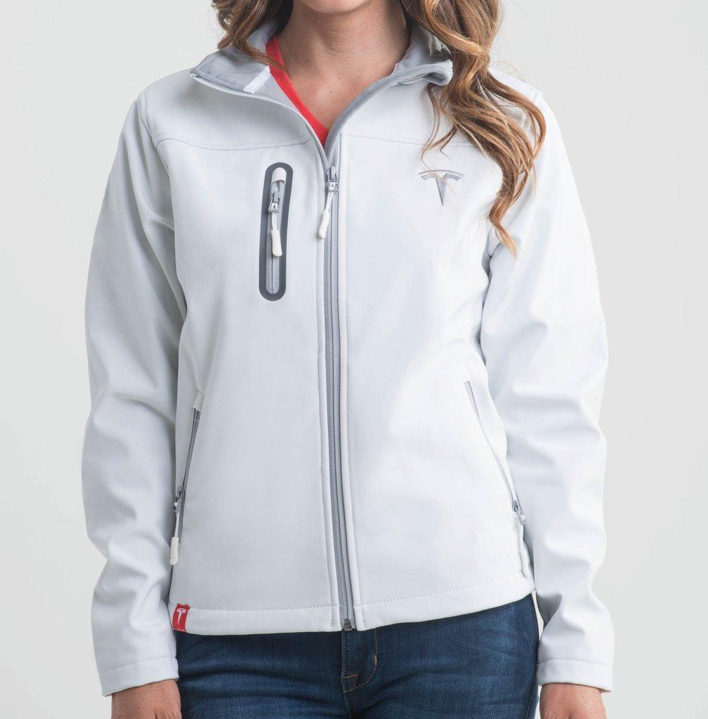 Women's White Corp Jacket by Tesla