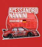 Alessandro Nannini 1993 Hockenheim T-Shirt by EvanDeCiren via TeePublic