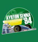 Ayrton Senna 1994 F1 T-Shirt by EvanDeCiren via TeePublic
