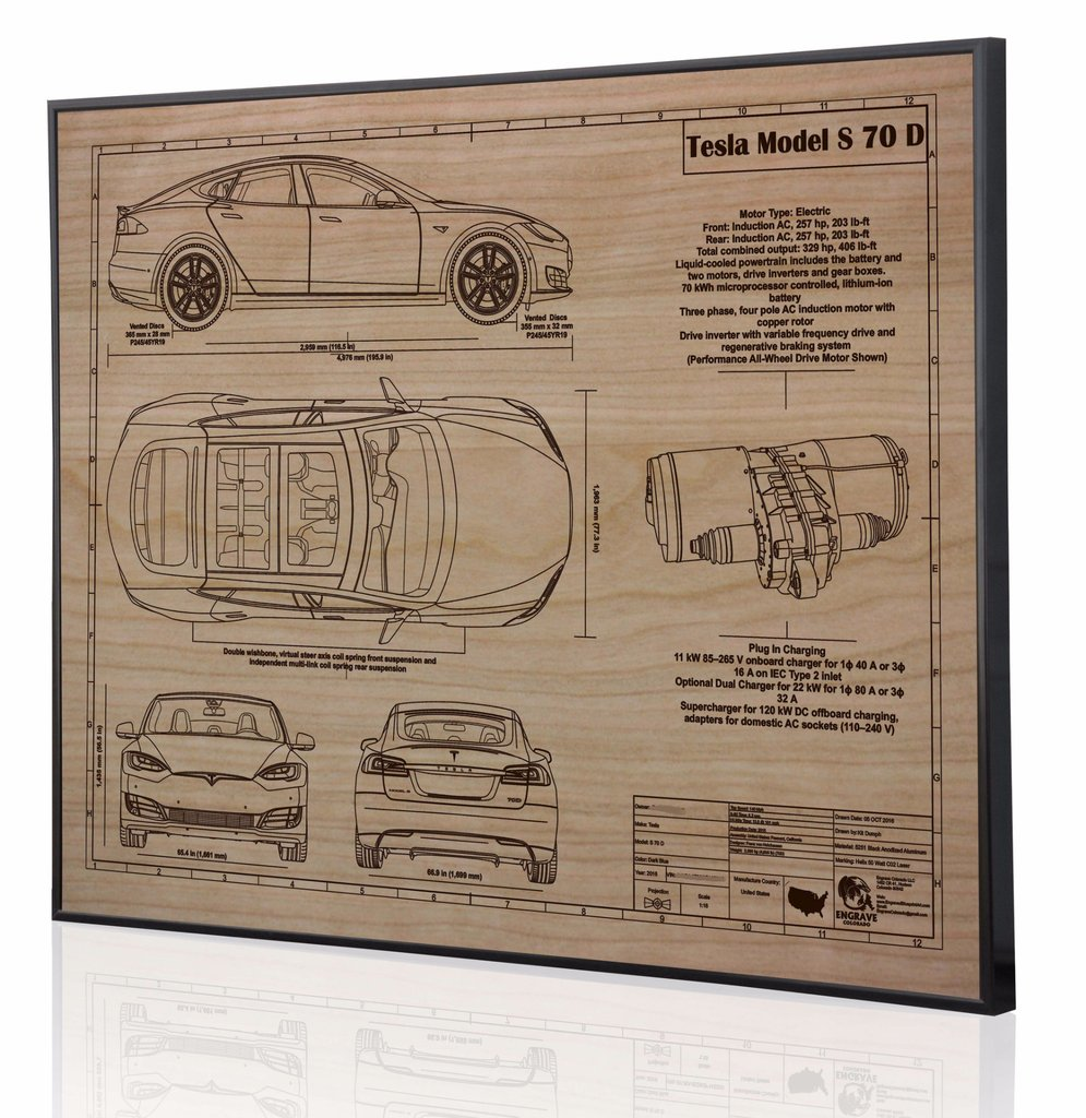 Tesla model s 70d by engraved blueprint art choice gear shop owner engraved blueprint art malvernweather Choice Image