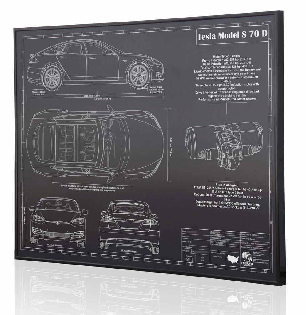 Tesla model s 70d by engraved blueprint art choice gear tesla model s 70d by engraved blueprint art malvernweather Choice Image