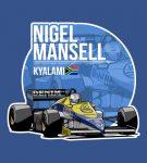 Nigel Mansell – 1985 Kyalami T-Shirt by Evan DeCiren via TeePublic