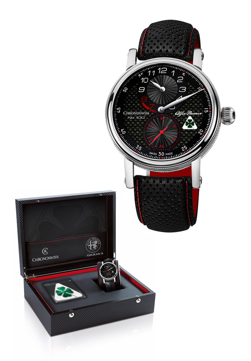 Quadrifoglio Edition Chronoswiss Regulator Watch By Alfa