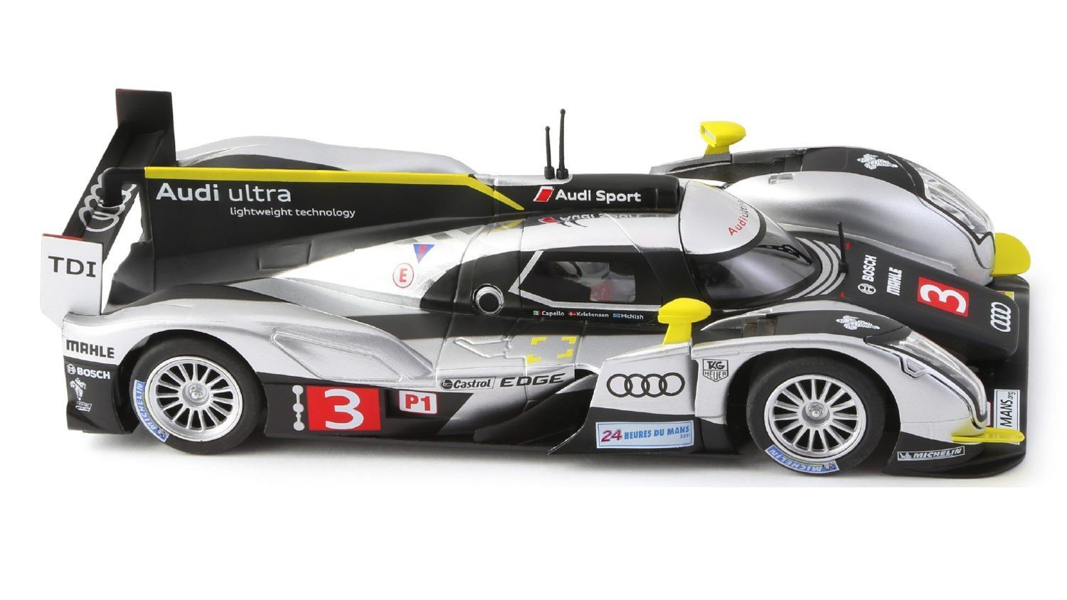 Audi r18 tdi le mans 2011 3 performance slot car by slot for Garage automobile le mans
