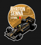Ayrton Senna – 1985 Estoril T-Shirt1