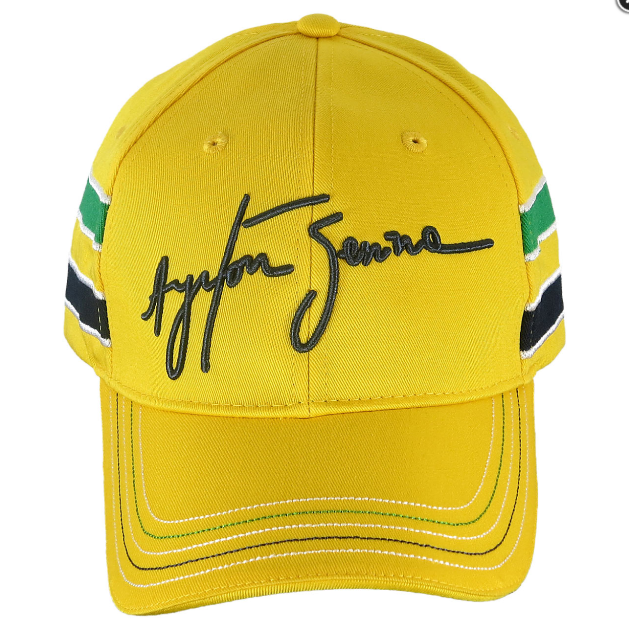 Ayrton Senna Yellow Helmet Hat by Ayrton Senna Shop ...
