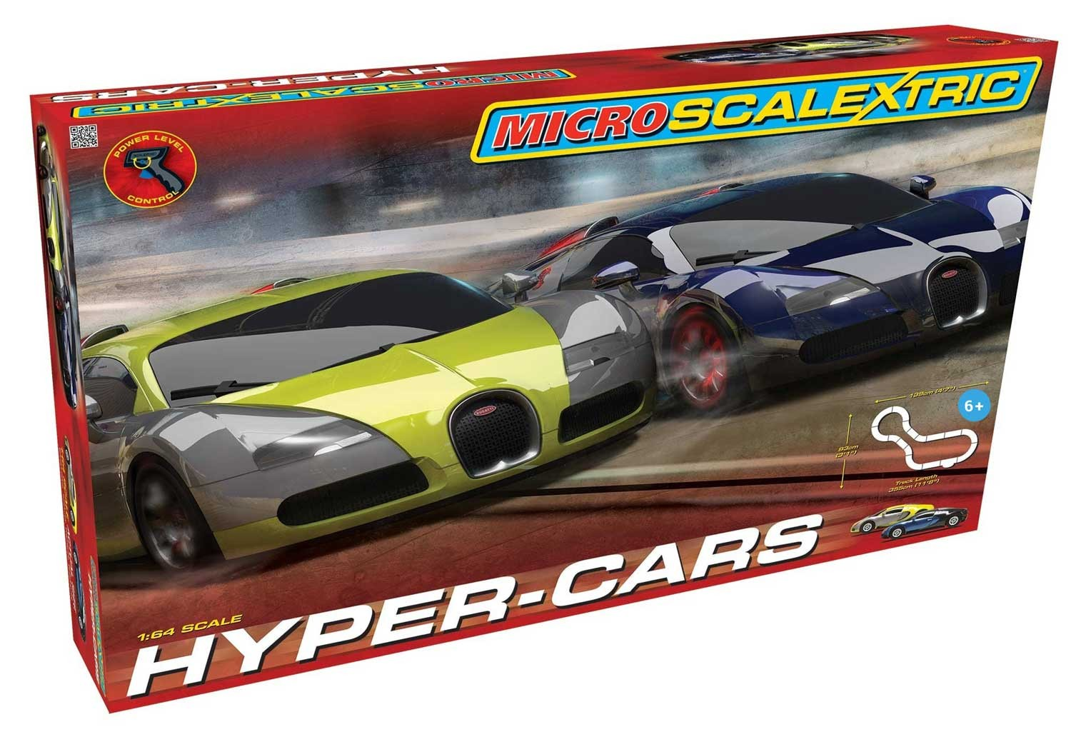 Bugatti Hypercar Micro Set By Scalextric 1 64 Scale