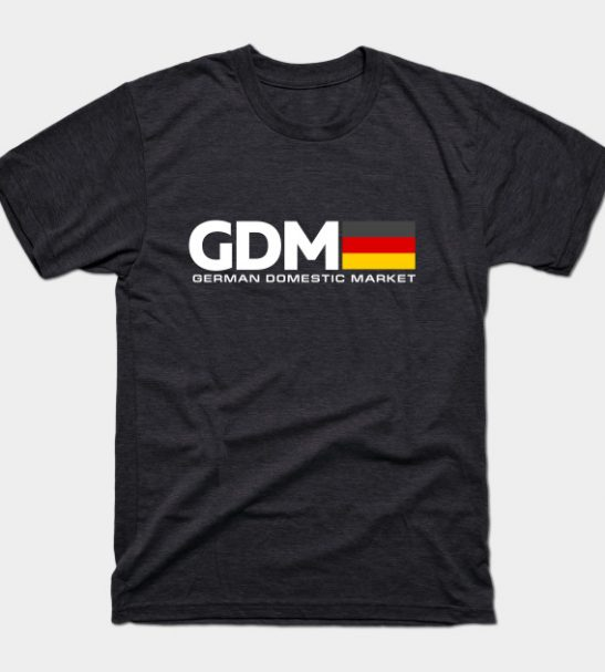 Euro GDM T-Shirt by NYXO via TeePublic