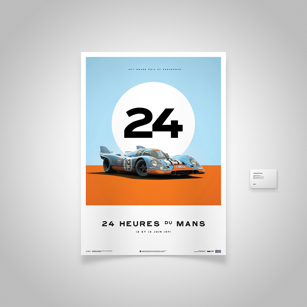 Limited edition Porsche 917 Le Mans front panel artwork Car Wall Art