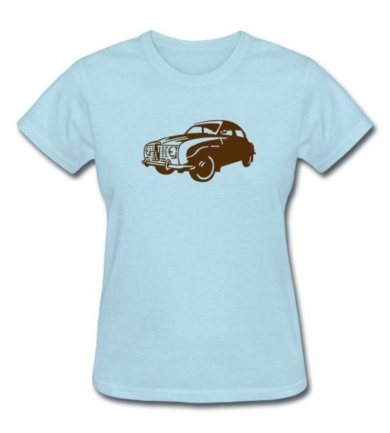 Saab 96 Ladies T-Shirt by robinlund