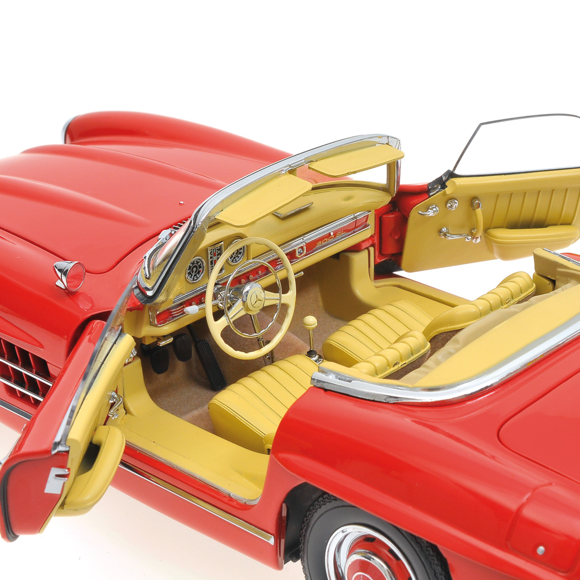 1957 mercedes benz 300sl roadster w198 by minichamps 1 18 scale choice gear. Black Bedroom Furniture Sets. Home Design Ideas