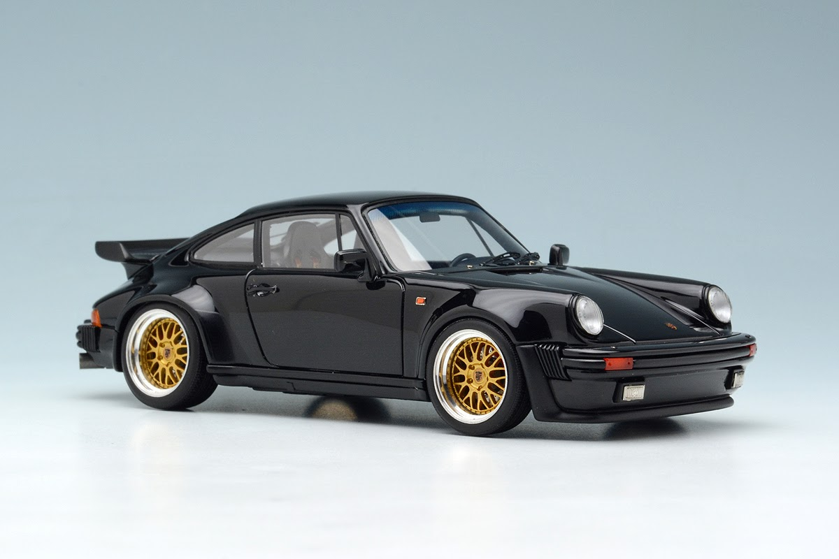 black 1988 porsche 930 turbo by make up co ltd 1 43 scale choice gear. Black Bedroom Furniture Sets. Home Design Ideas