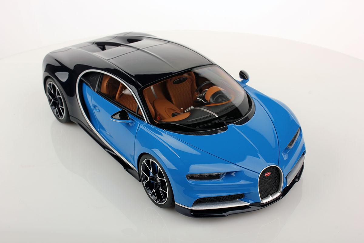 Light Blue Sport Bugatti Chiron By Mr Collection 1 18