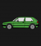 MK2 Golf Westy Green T-Shirt 2