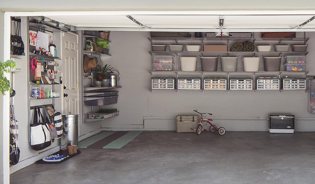 container store temporarily slashes prices on elfa garage shelving