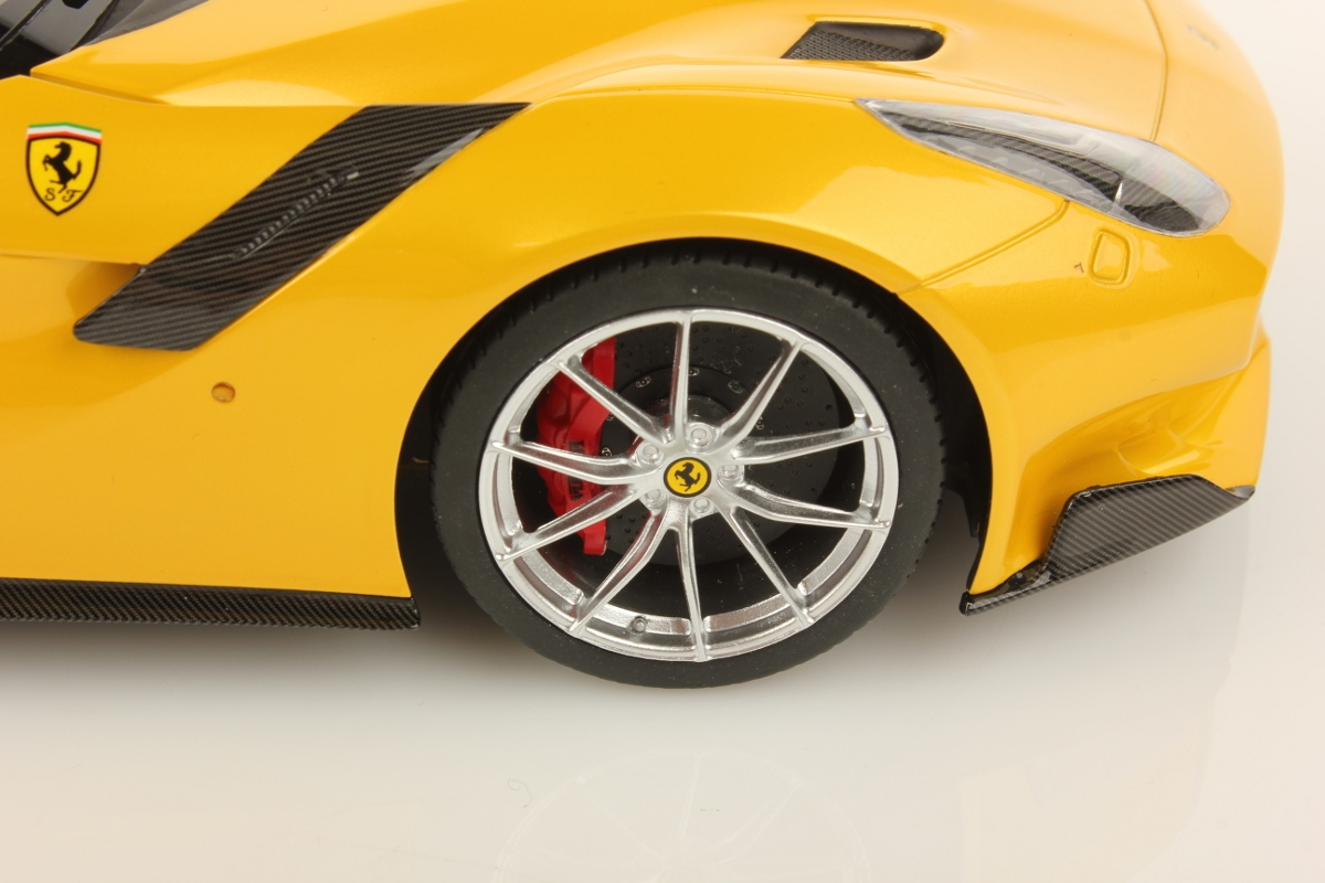 Yellow Ferrari F12 tdf by MR Collection (1:18 scale) - Choice Gear