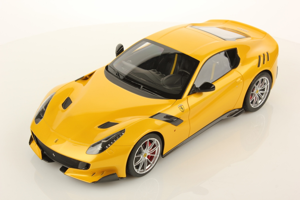yellow ferrari f12 tdf by mr collection 1 18 scale choice gear. Black Bedroom Furniture Sets. Home Design Ideas