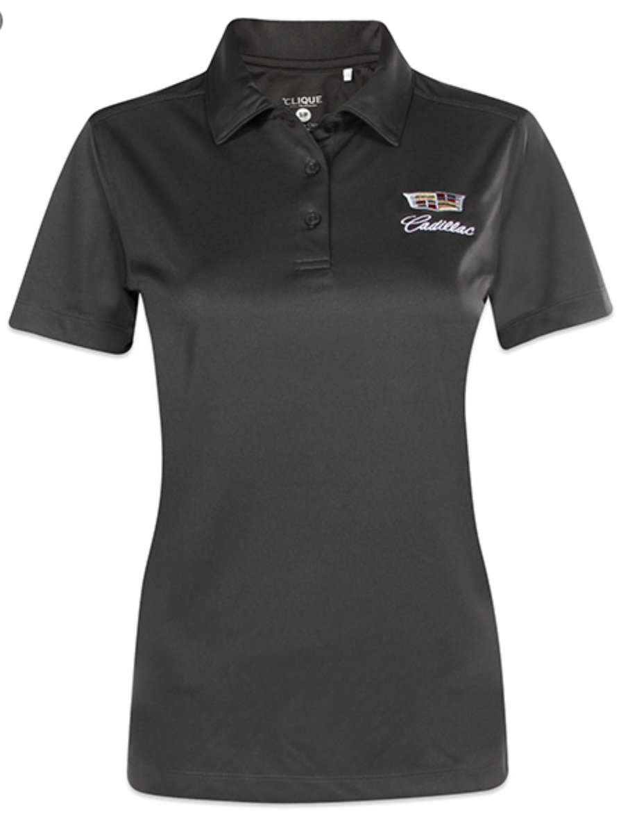 Ladies Moisture Wicking Polo Shirt By Cadillac Choice Gear