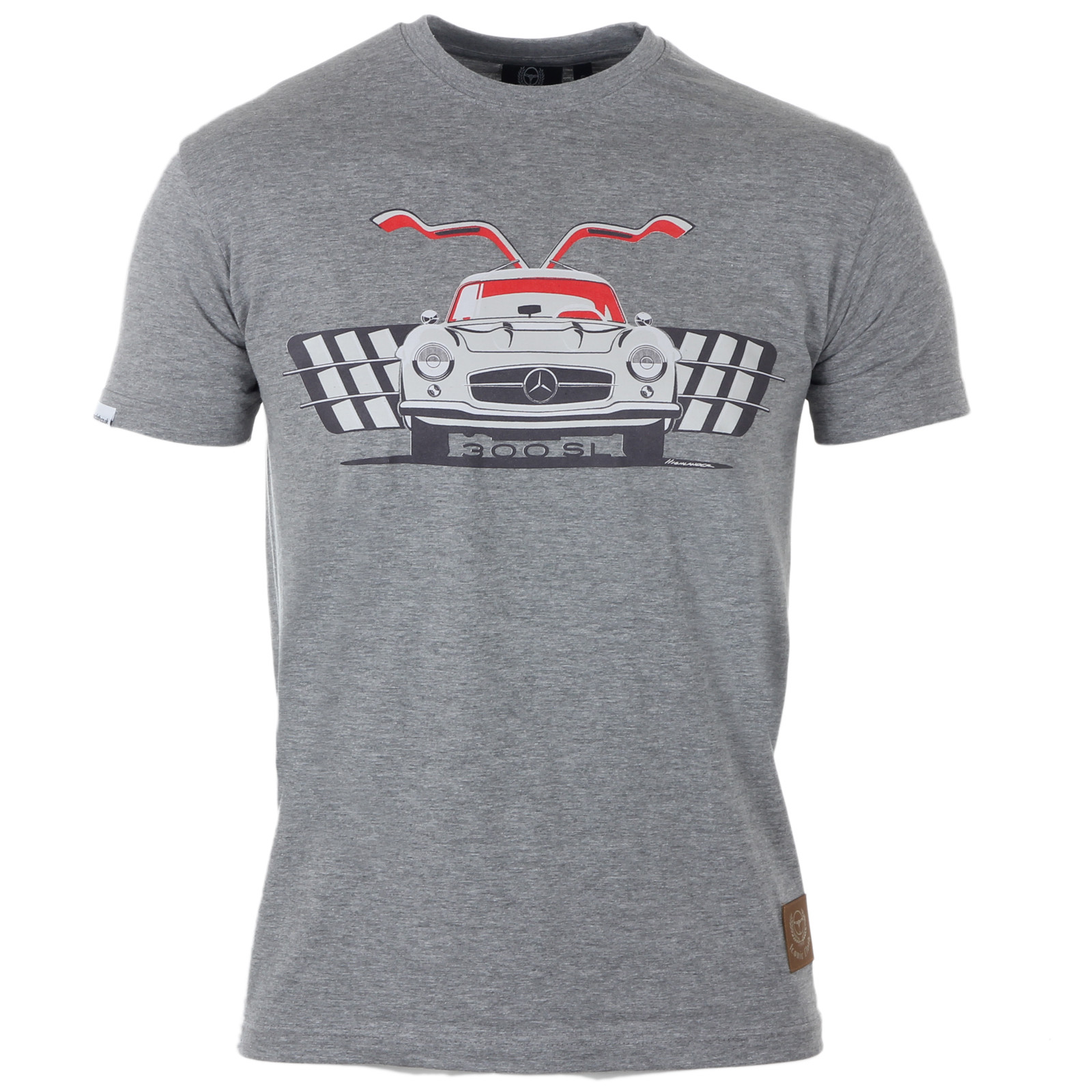 Mercedes benz 300sl gullwing grey t shirt by iconic cloth for Mercedes benz shirts