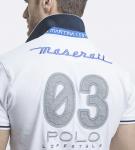 Maserati Oberon White Short Sleeve Polo Shirt by La Martina 4