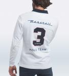 Maserati Ralf White Long Sleeve Polo Shirt by La Martina 4