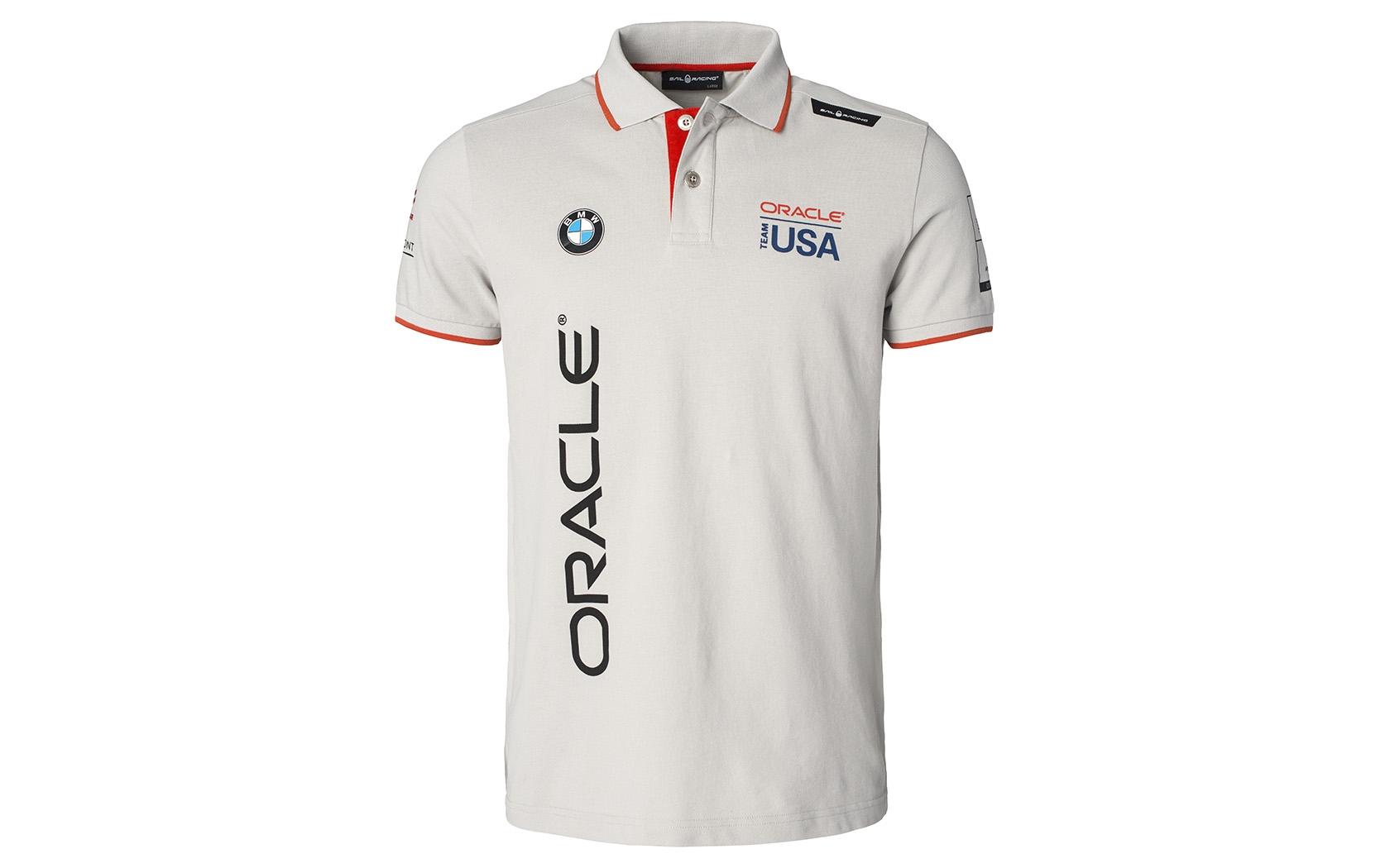Oracle Team Usa Mens Cotton Polo Shirt By Sail Racing Choice Gear