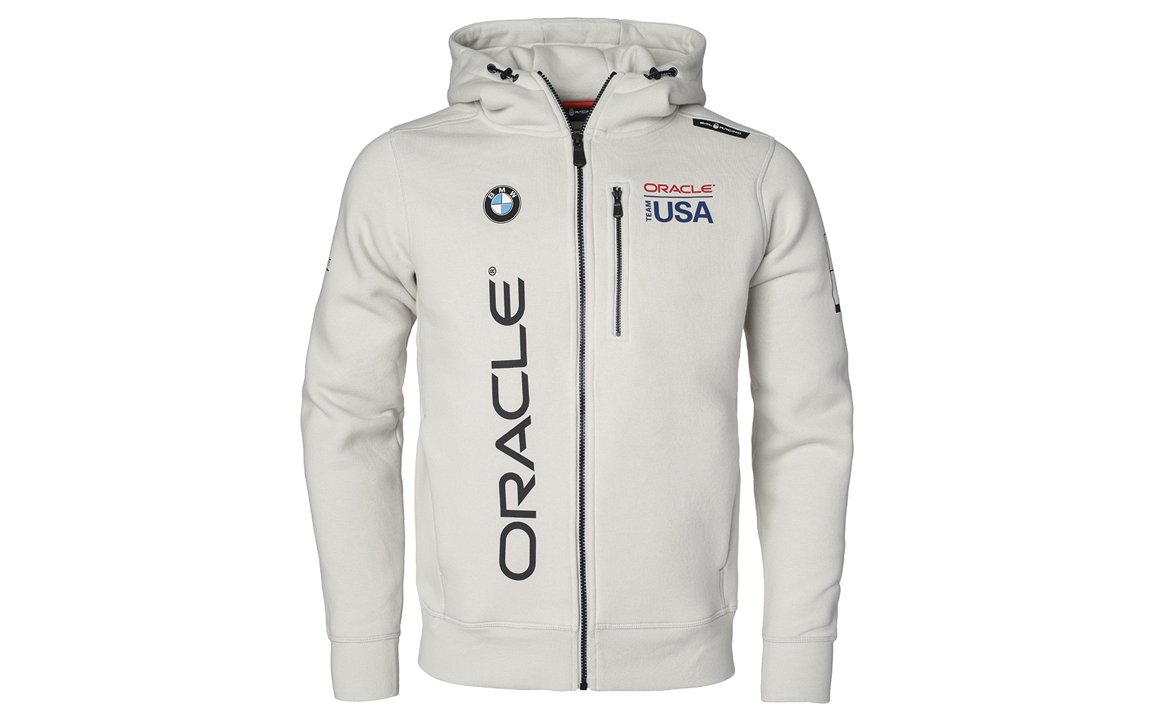Oracle Team Usa Violet Grey Zip Hood Sweater By Sail