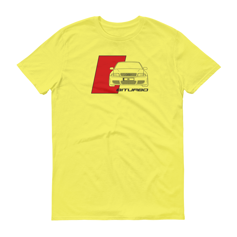 Yellow Audi B5 S4 Sport T Shirt By Tire Wear Co Choice Gear