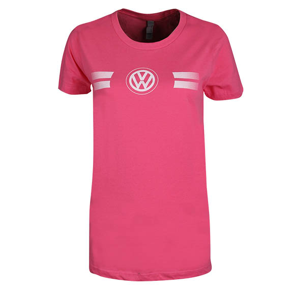 Hot pink game day style t shirt by volkswagen choice gear for Sweaty t shirts and human mate choice