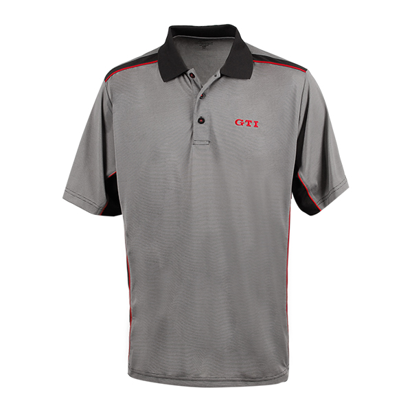 grey mens gti polo shirt by volkswagen choice gear