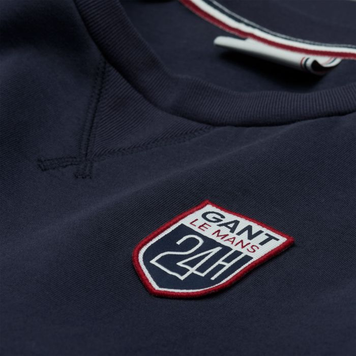 evening blue le mans sweatshirt by gant choice gear. Black Bedroom Furniture Sets. Home Design Ideas