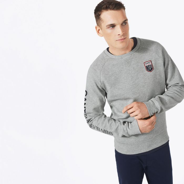 grey le mans sweatshirt by gant choice gear. Black Bedroom Furniture Sets. Home Design Ideas