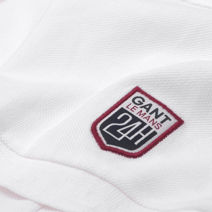 white le mans rugby polo by gant choice gear. Black Bedroom Furniture Sets. Home Design Ideas