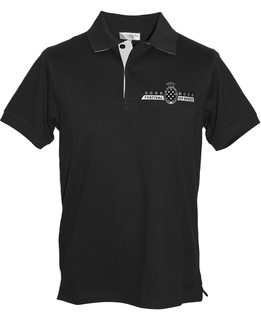 Black Festival Of Speed Logo Polo Shirt Mens By Goodwood