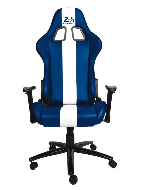 Blue and white 24 hours of le mans office bucket seat by for Bureau skate shop