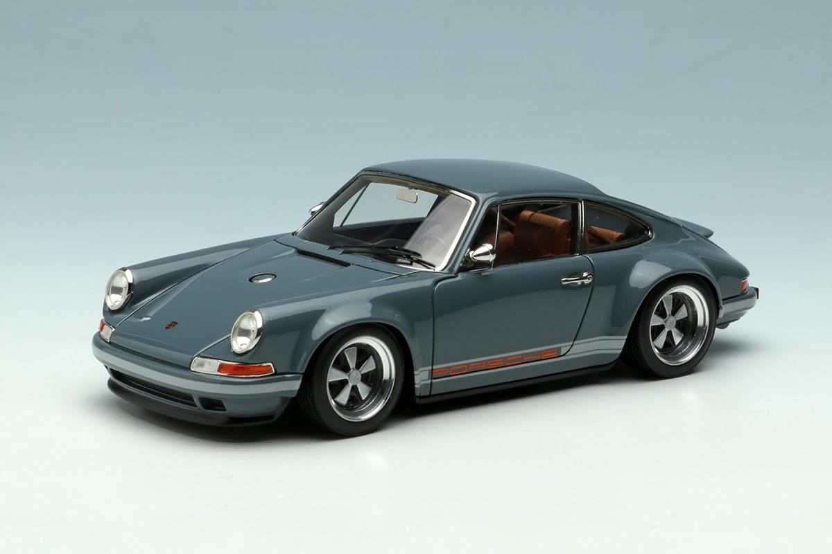 Grey Porsche Singer 911 By Make Up Co Ltd 1 43 Scale Choice Gear