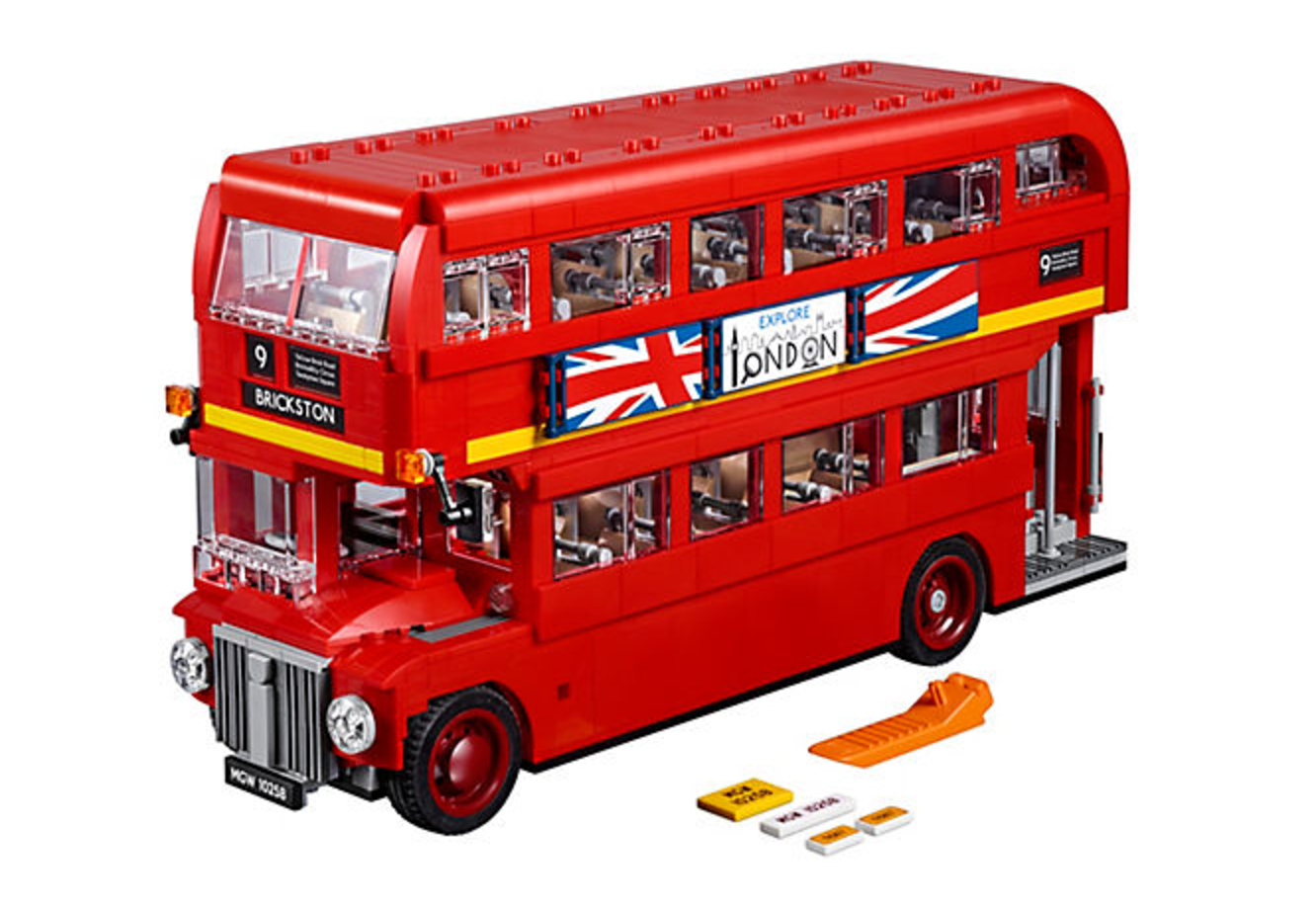Lego Creator Expert London Bus Lego on electric work benches
