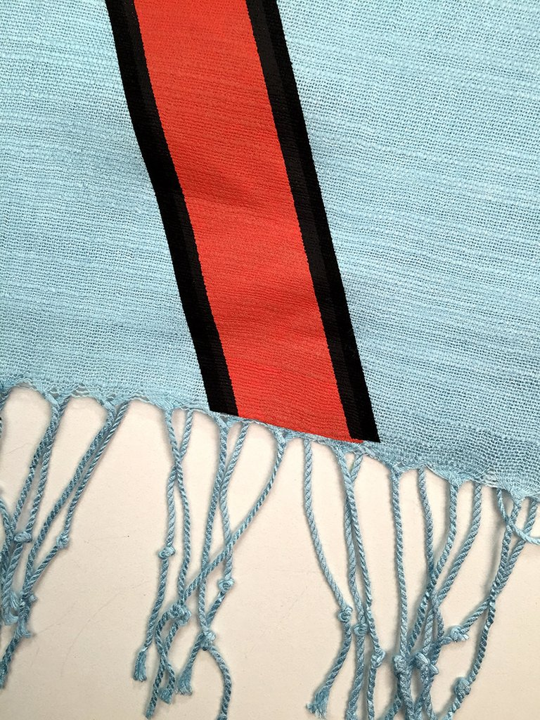Gulf Racing Stripes Scarf Le Mans Mirage Cyberoptix Tie Lab on electric work benches