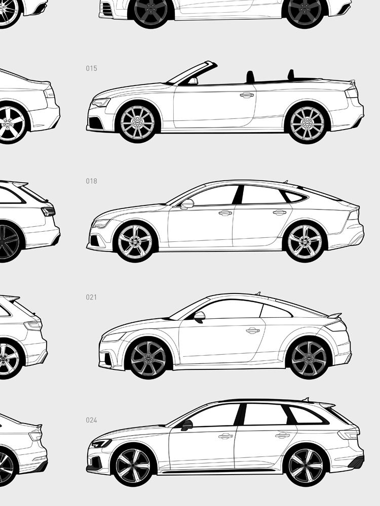 Audi Rs Production History Poster By Hive Posters Choice