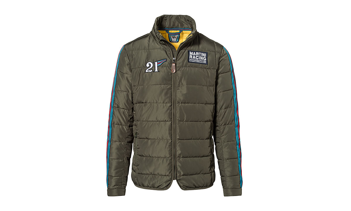 Mens Martini Racing Quilted Jacket By Porsche Choice Gear