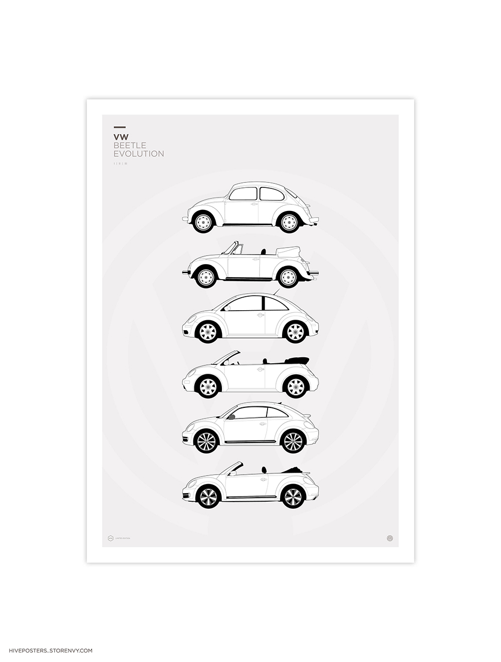 Vw Beetle Generations Hive Posters